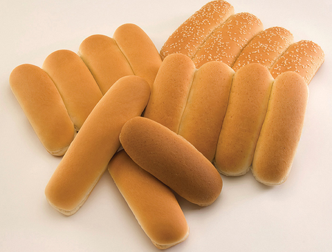 Hotdogs bread