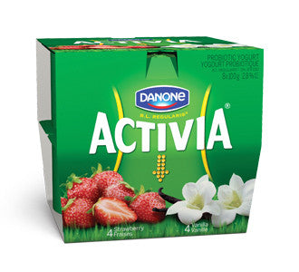 Activia Yogurt Vanilla & Strawberry