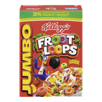 Kellogg's Froot Loops Jumbo Family Size Cereal