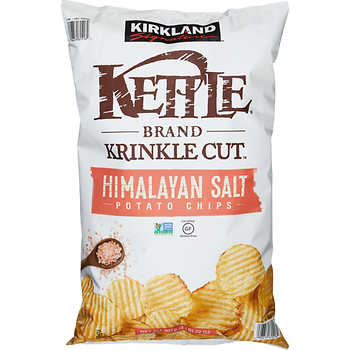 Kettle Krinkle Cut Himalayan Salt Chips