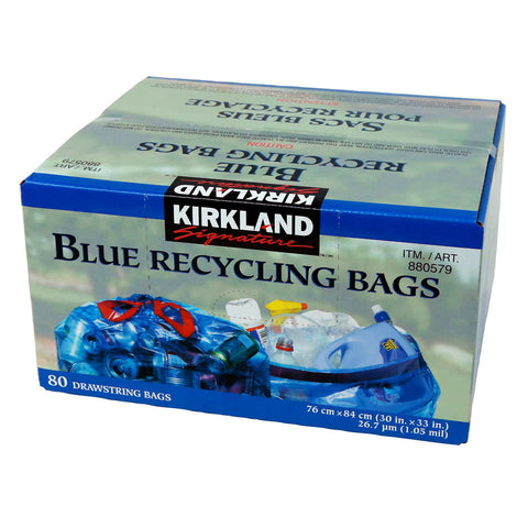 Kirkland Signature Blue Recycling Bags