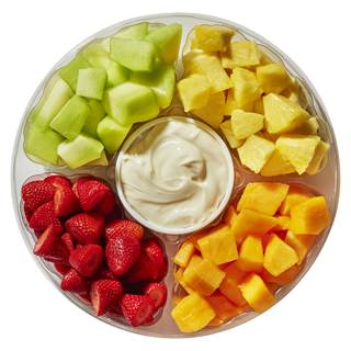 Large Fruit Tray Mix With Chocolate Dip