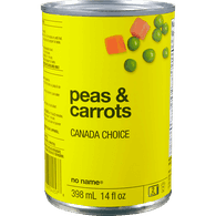 No Name Canned Carrots and Peas