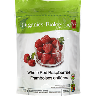 PC Choice Organic Whole Red Raspberries