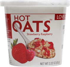 Love Grown Foods Hot Oats Strawberry and Raspberries