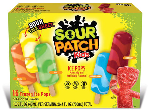 Maynards Sour Patch Ice Pops Ice Cream