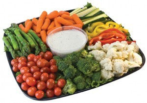 Vegetable Mix Tray With Dip