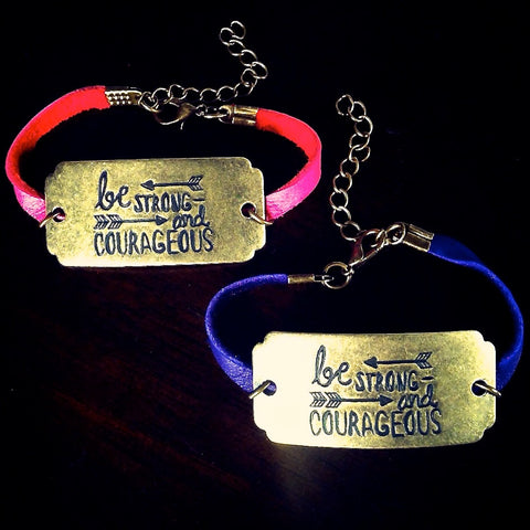 """Be Strong and Courageous"" Bracelet"