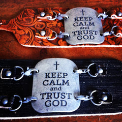 """Keep Calm and Trust God"" Bracelet"
