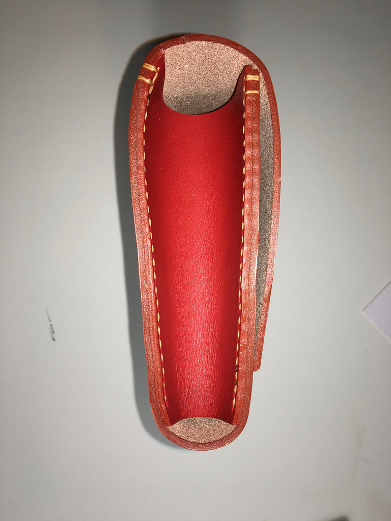 leather woven handle