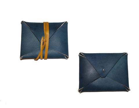 envelope card case indigo