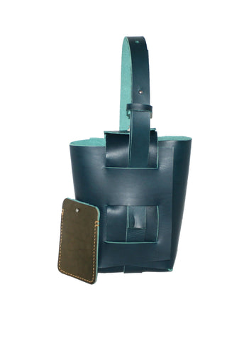 origami bag glacier blue hand tote vertical small