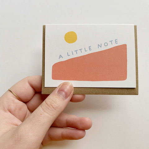A Little Note - tiny card