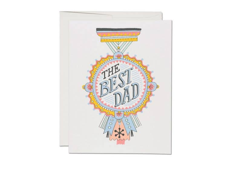 Red Cap Cards - Dad Medal