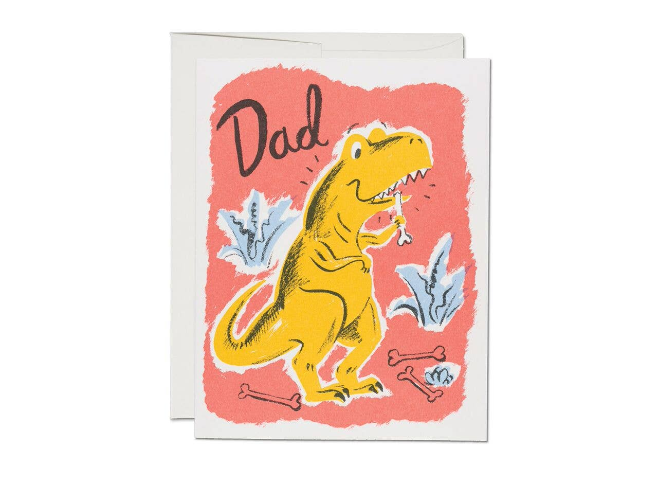Red Cap Cards - Dinosaur Dad