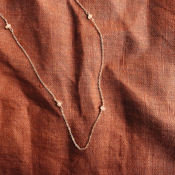 String Me Along - Goldstone Necklace