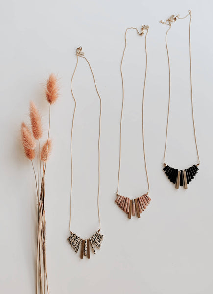 Dalmatian Jasper Fringe Necklace