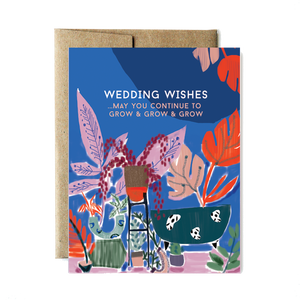 Grow and Grow Botanicals Wedding Card