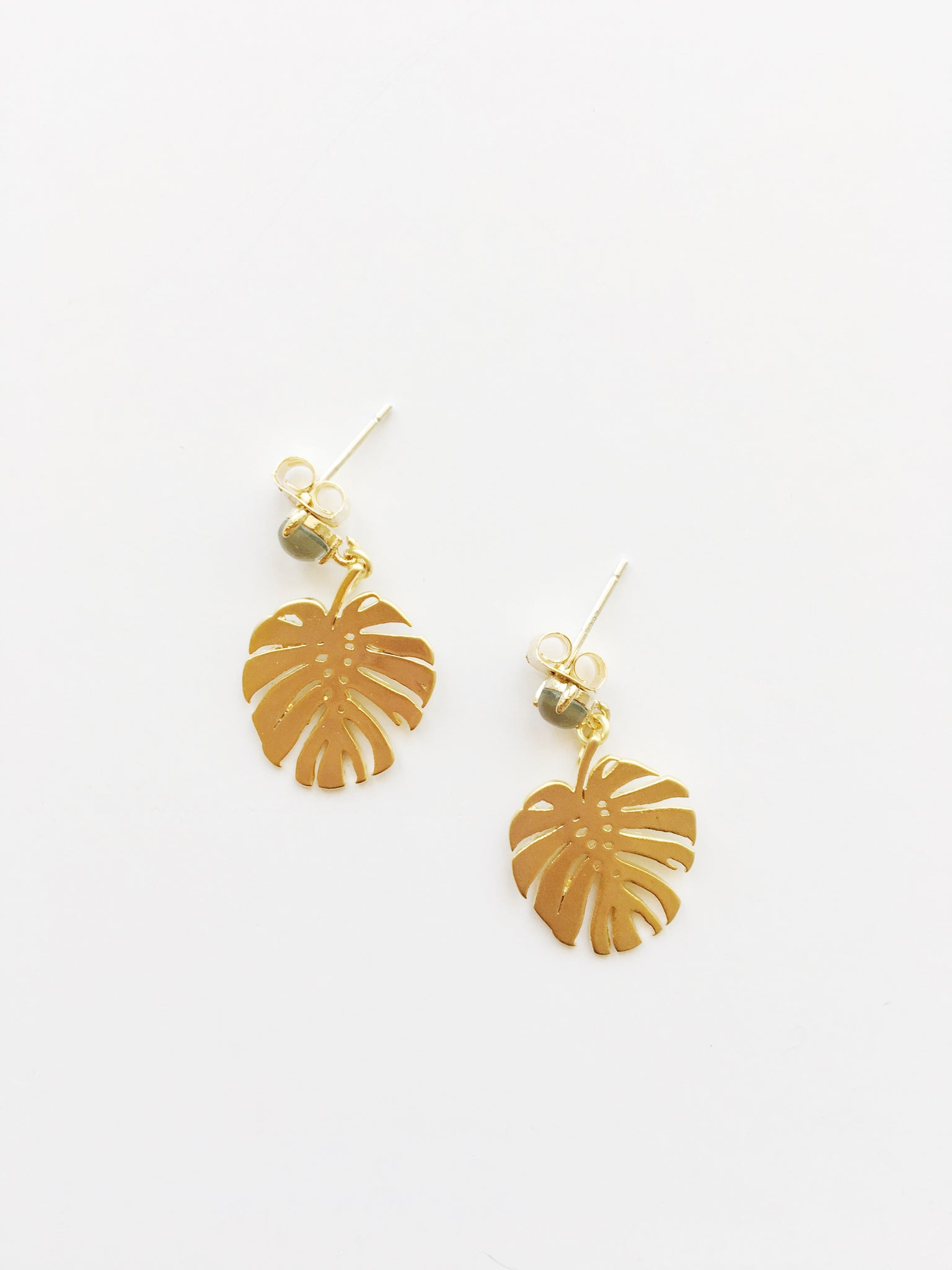 Little Monstera Leaf - Earrings
