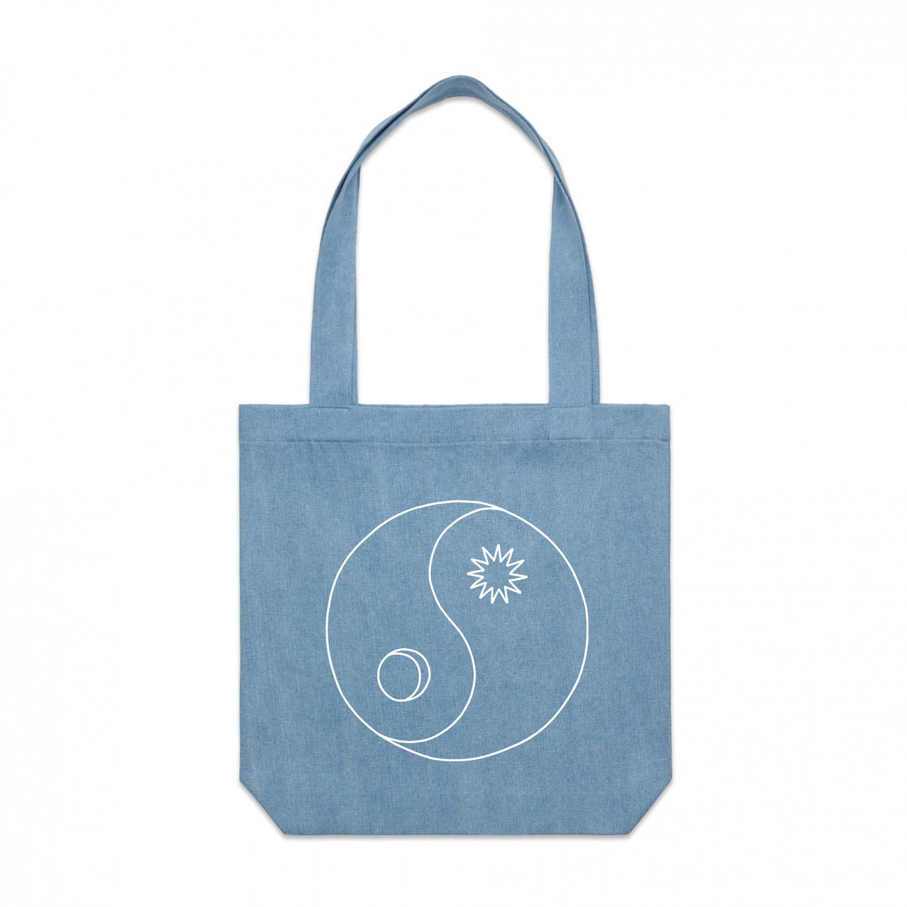 Yin Yang Denim Tote Bag