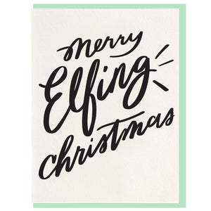Elfing Christmas Card
