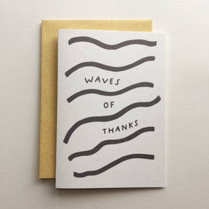 Waves of Thanks - Card
