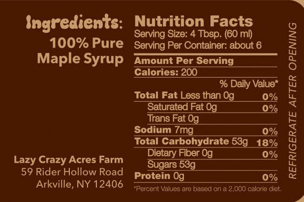 Pure Tree Juice Maple Syrup - 2 oz