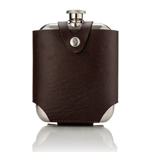Admiral™ Stainless SteelFlask and Traveling Case