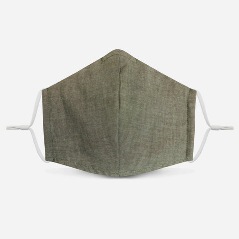 Unity Face Mask 1.0 w/ Filter Pocket (Olive/Chambray)