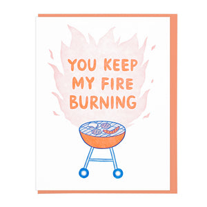 You Keep My Fire Burning - Card