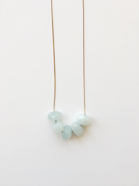 Full House - Sky Blue - Necklace