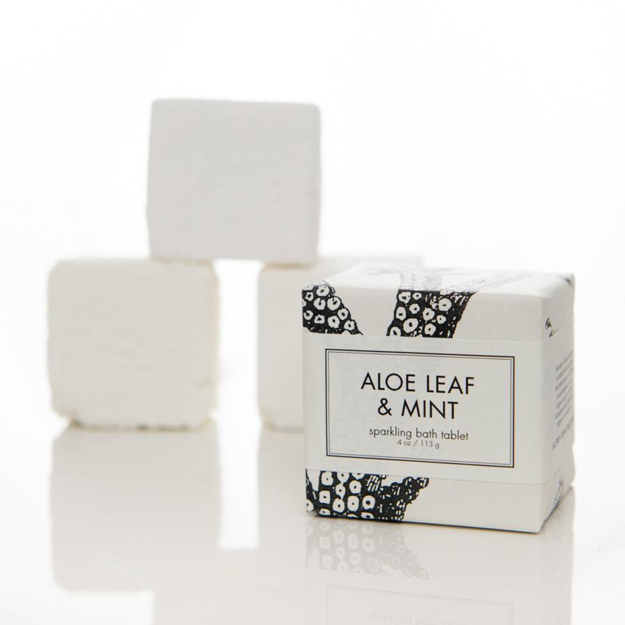 Aloe Leaf and Mint - Bath Tablet