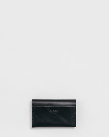 Leather Card Holder - Black