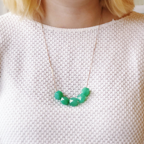 Full House - Geometric Jade - Necklace