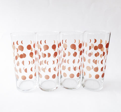 Moon Glassware - set of 4