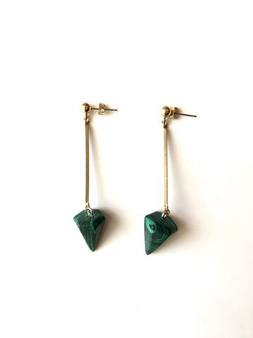 Sticks and Cones - Earrings - Green