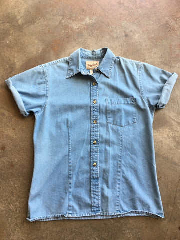 Woolrich Denim Button Short Sleeve Shirt