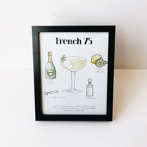French 75 - Drink Print