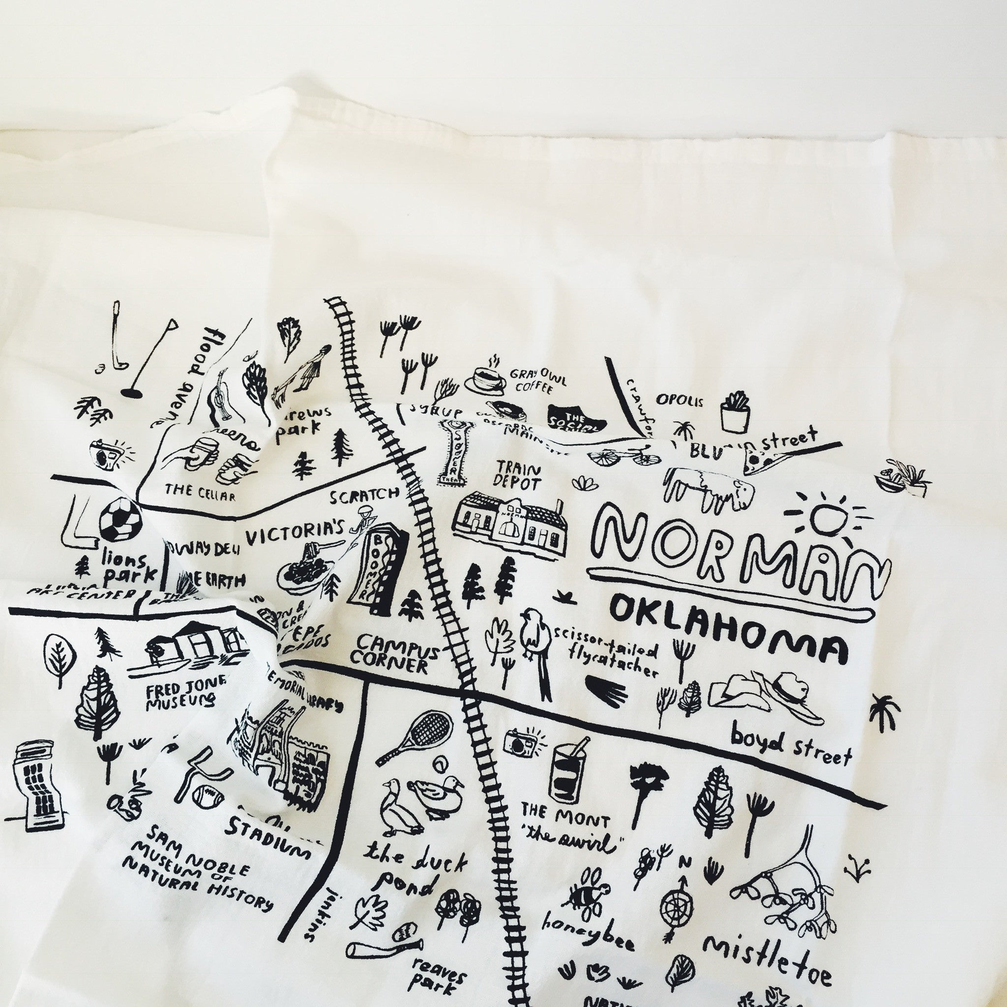 Norman Map - Tea Towel