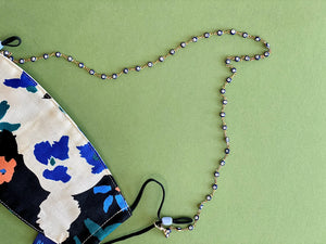 Blue Evil Eye Face Covering Chain + Necklace