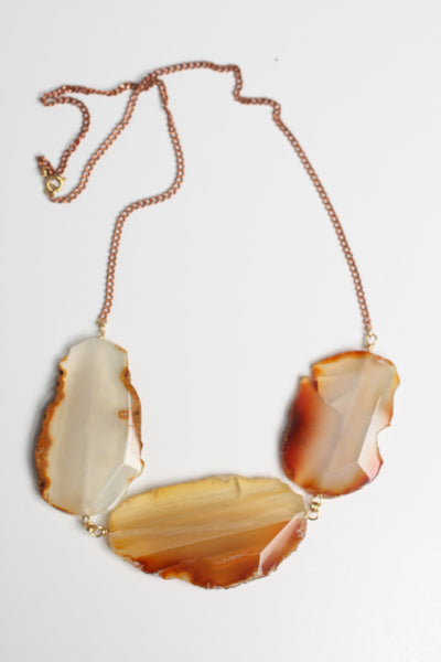 Golden Agate Collar - Necklace