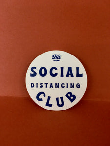 Social Distancing Club Sticker