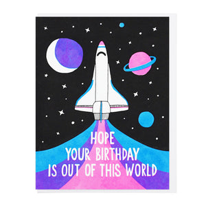 Out of This World Birthday  - Card