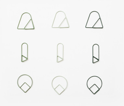 Paper clips - green