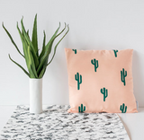 Peach cactus pillow - 16x16