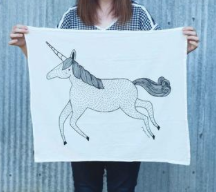 Unicorn - Tea Towel