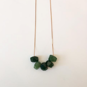 Full House - Emerald Jade - Necklace