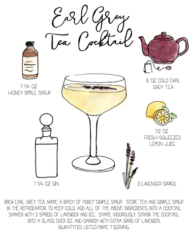 Earl Grey Tea Cocktail - Drink Print