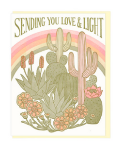 Sending You Love and Light  - Card