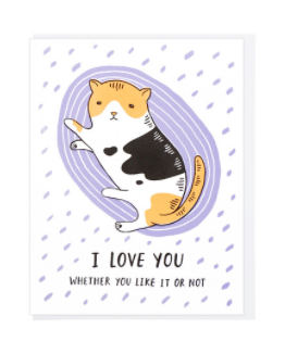 I Love You - Cat  - Card